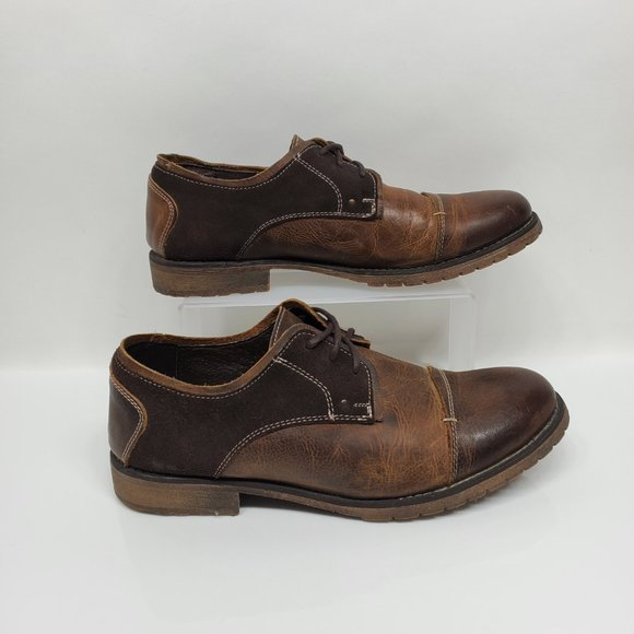 Bed Stu Repeal Leather Cap Toe Oxfords